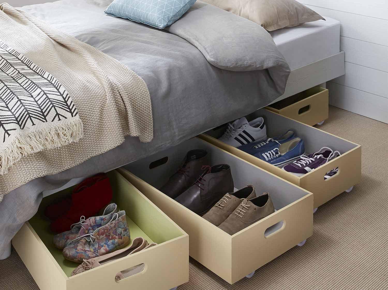 astuce pour ranger les chaussures maison design. Black Bedroom Furniture Sets. Home Design Ideas