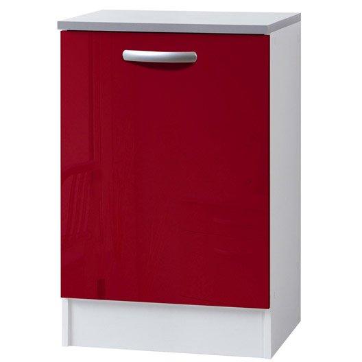 Meuble De Cuisine Bas 1 Porte Rouge Brillant H86x L60x