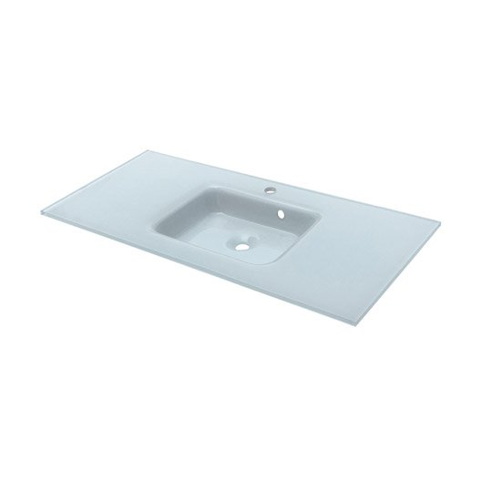 Plan vasque meuble de salle de bains au meilleur prix - Vasque salle de bain en verre leroy merlin ...