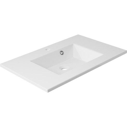 plan vasque simple modern r sine de synth se 76 cm leroy merlin. Black Bedroom Furniture Sets. Home Design Ideas