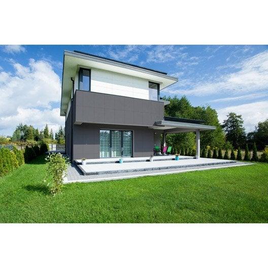 Bardage bois, PVC, composite au meilleur prix Leroy Merlin # Panneau Bois Gris Anthracite
