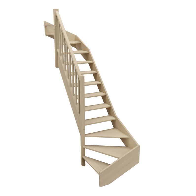 escalier quart tournant haut et bas gauche soft structure. Black Bedroom Furniture Sets. Home Design Ideas