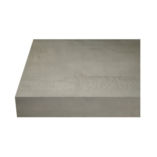 plan de travail stratifi b ton loft mat x cm mm leroy merlin. Black Bedroom Furniture Sets. Home Design Ideas