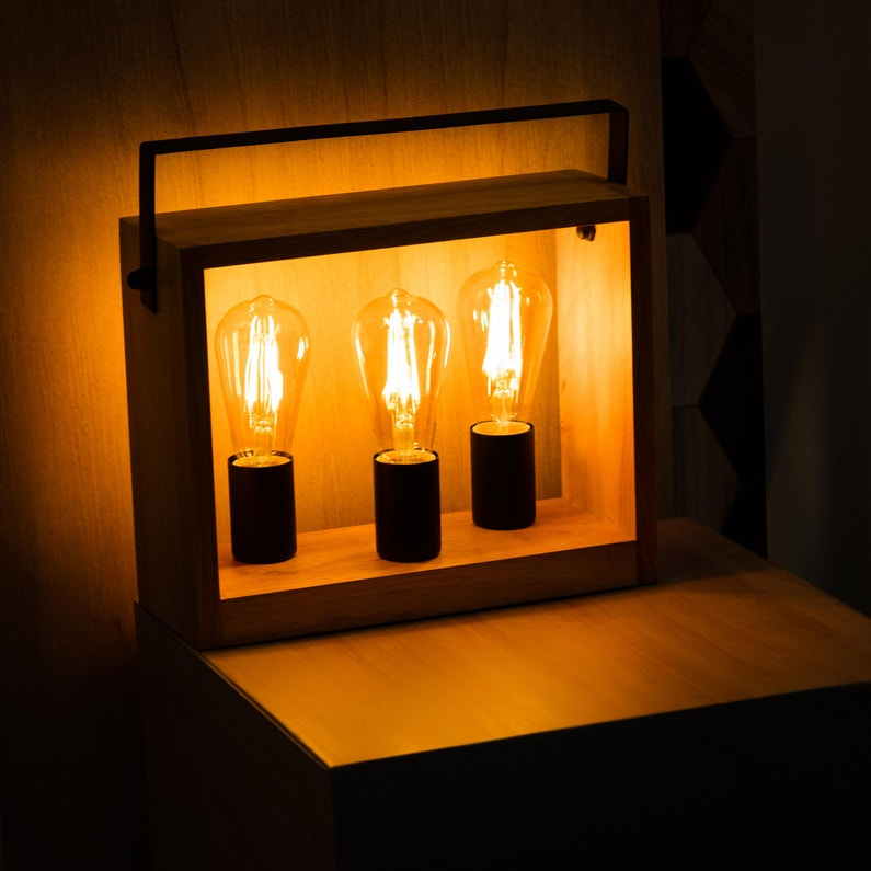 Lampe De Bureau Factory E27 A Poser Marron Large Seynave Metal