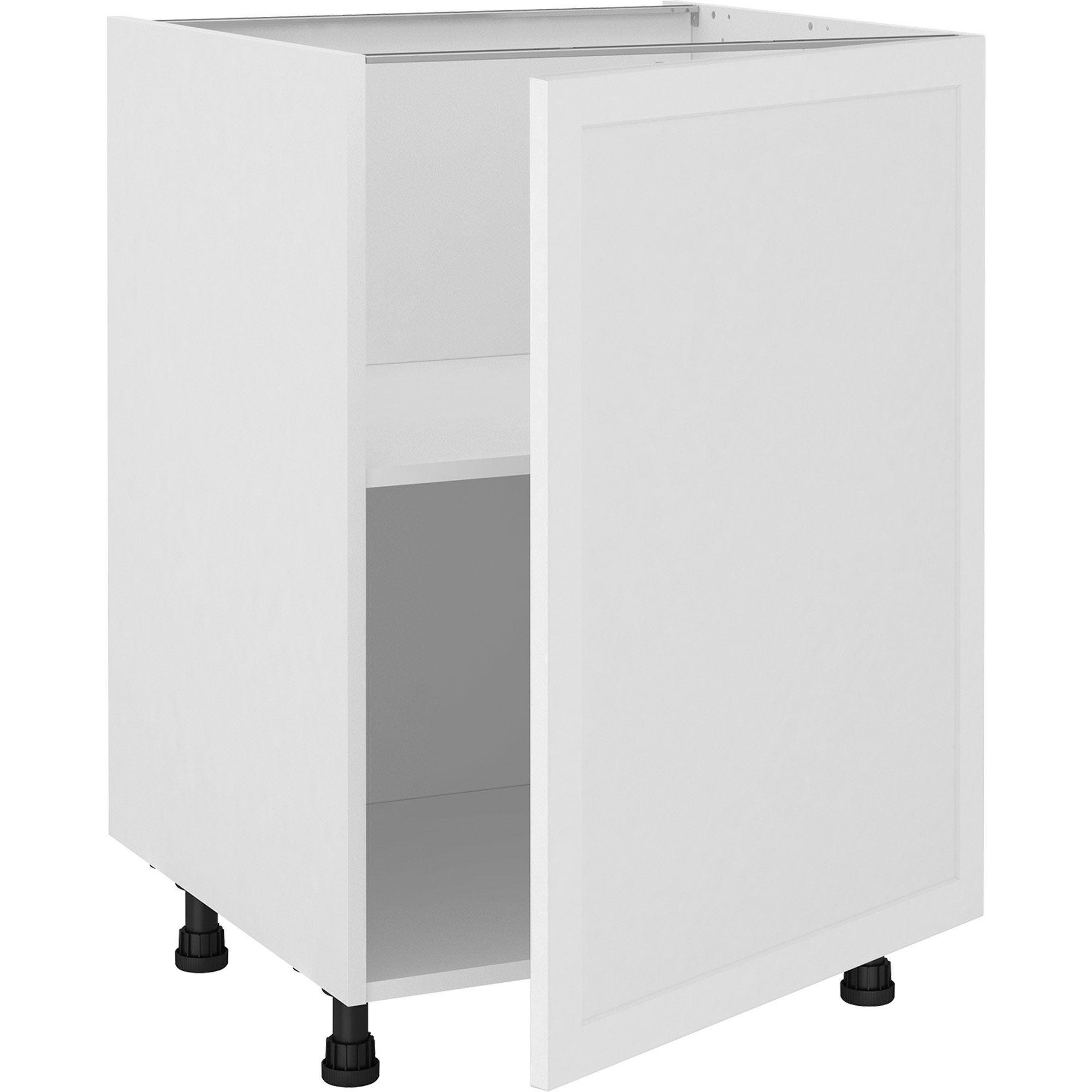 Meuble bas de cuisine Newport blanc, 1 porte H.77 l.60 cm x p.58 cm