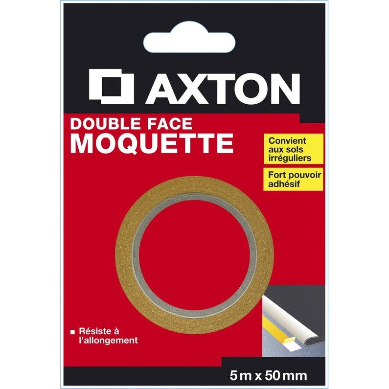 Rouleau Adhésif Double Face Moquette L50 Mm X L5 M Axton