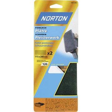Lot de 2 grilles abrasives NORTON grains 120