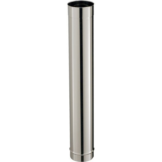 tuyau inox de raccordement poujoulat diam 150 mm 100 cm leroy merlin. Black Bedroom Furniture Sets. Home Design Ideas