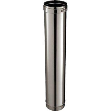 Rigide simple paroi pour tubage POUJOULAT, D. 150 mm 1 m