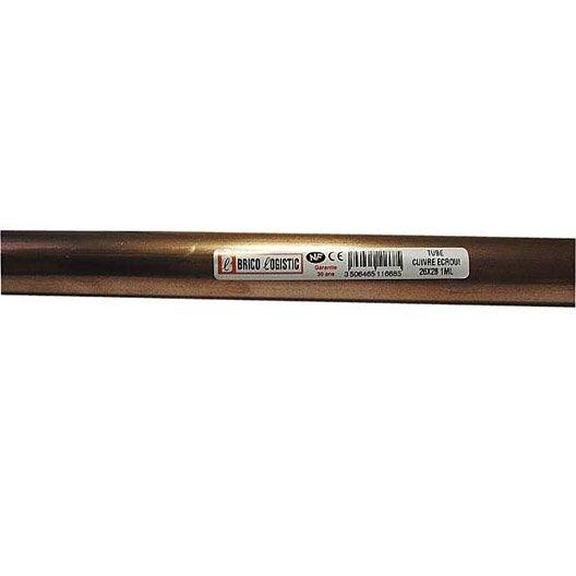 tube d 39 alimentation cuivre croui x 28 mm en barre de 5 m leroy merlin. Black Bedroom Furniture Sets. Home Design Ideas