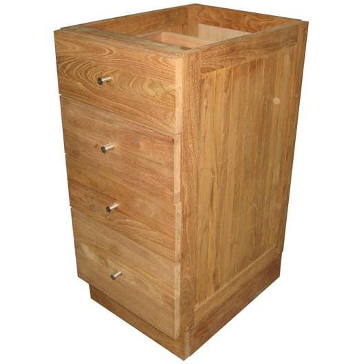 meuble bas x x cm wellington leroy merlin. Black Bedroom Furniture Sets. Home Design Ideas