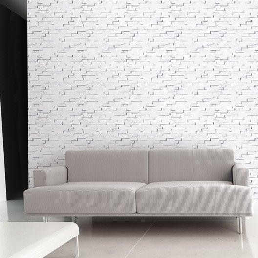 papier peint intiss craie briquettes leroy merlin. Black Bedroom Furniture Sets. Home Design Ideas