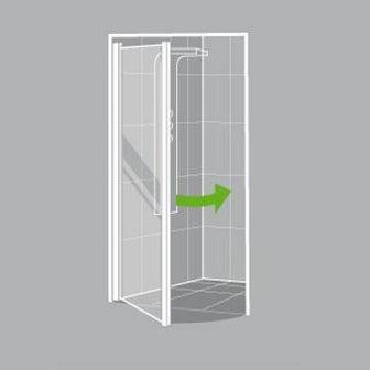 Comment choisir sa porte et sa paroi de douche leroy for Cabine de douche 70x70 leroy merlin
