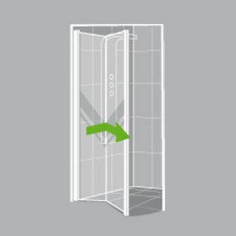 Comment choisir sa porte et sa paroi de douche leroy merlin - Porte de douche coulissante 3 volets ...