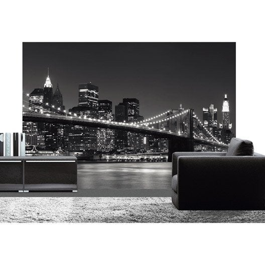 Poster xxl de mur new york skyline deco wall x for Poster xxl mural leroy merlin