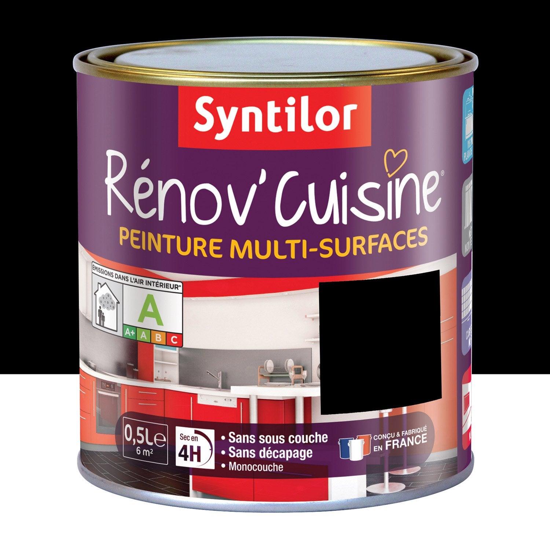 Peinture Rénovu0027cuisine SYNTILOR, Noir, 0.5 L