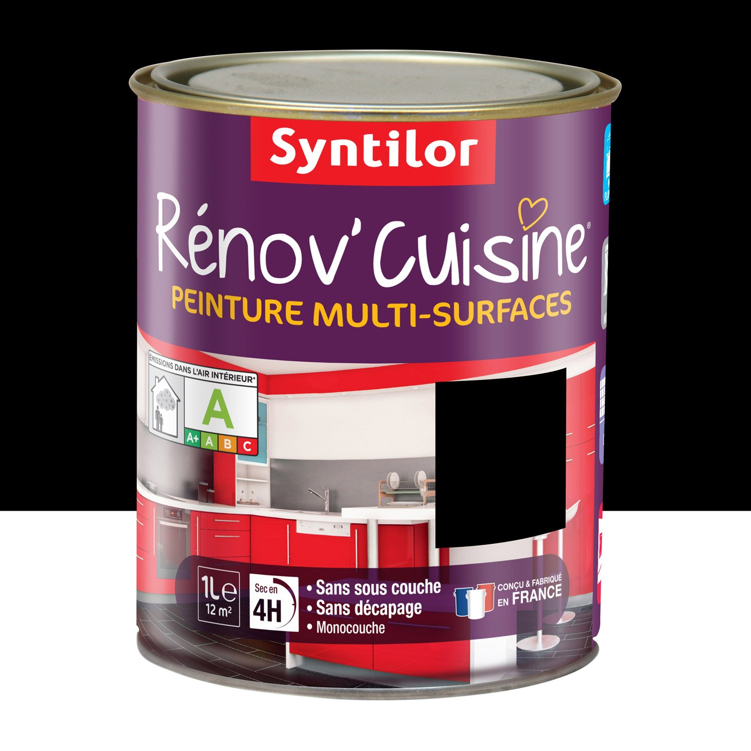 peinture r nov 39 cuisine syntilor noir 1 l leroy merlin. Black Bedroom Furniture Sets. Home Design Ideas
