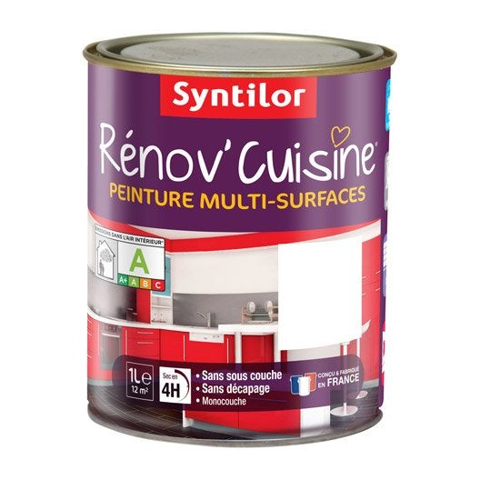 peinture r nov 39 cuisine syntilor blanc 1 l leroy merlin. Black Bedroom Furniture Sets. Home Design Ideas