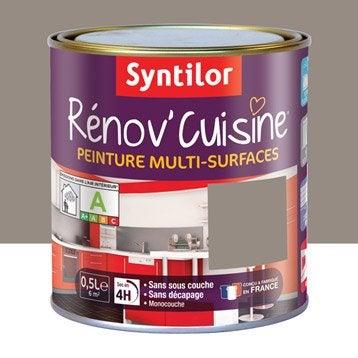 Peinture Rénov'cuisine SYNTILOR, Brun macaron, 0.5 l