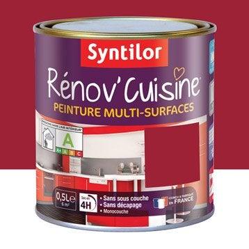 Peinture Rénov'cuisine SYNTILOR, Rouge gaspacho, 0.5 l