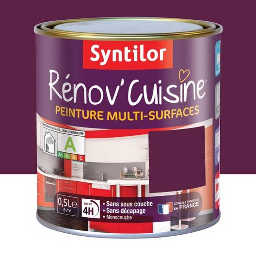 Peinture r nov 39 cuisine syntilor violet aubergine 0 5 l leroy merlin - Meuble cuisine violet ...