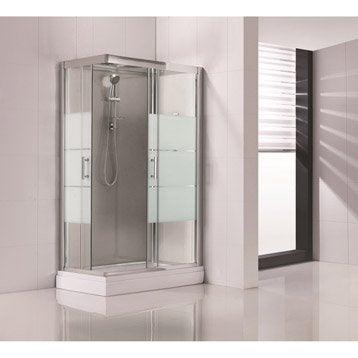 Cabine de douche rectangulaire 120x80 cm, Optima2 grise