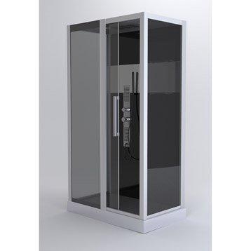 Cabine de douche rectangulaire L.115 x l.90 cm, Trendy