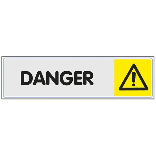 plaque danger en plexiglass | leroy merlin