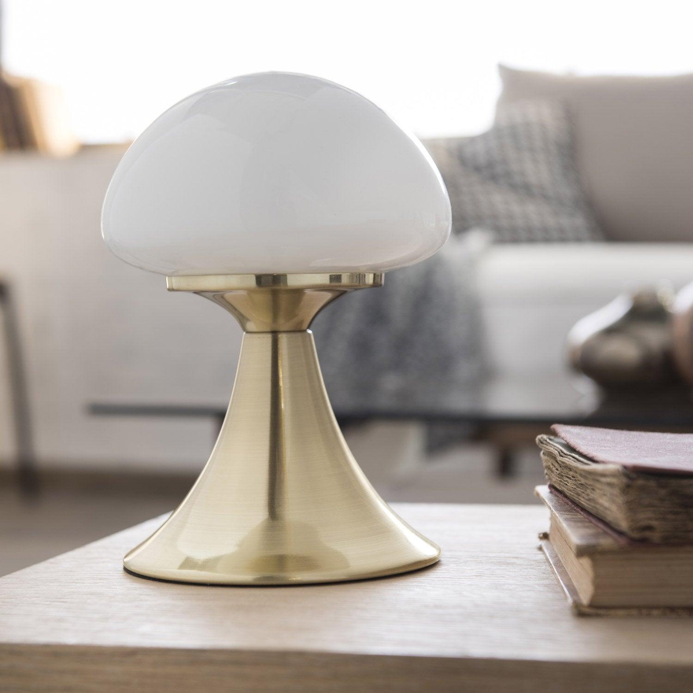 Lampe tactile, chic, métal chromée brillant commande, INSPIRE Kinoko