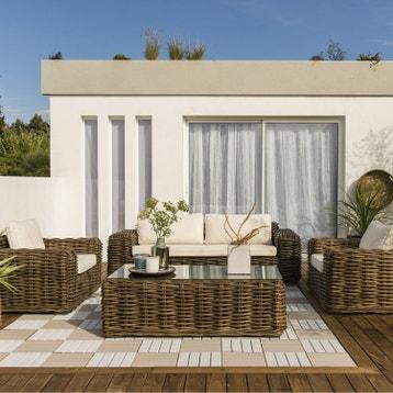 Salon bas de jardin - Canapé, Fauteuil bas, Salon de détente au ...