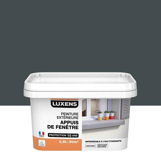peinture appui de fen tre luxens gris ral 7016 2 5 l leroy merlin. Black Bedroom Furniture Sets. Home Design Ideas