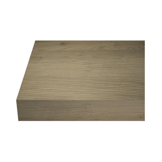 plan de travail stratifi chene gris clair mat x p. Black Bedroom Furniture Sets. Home Design Ideas