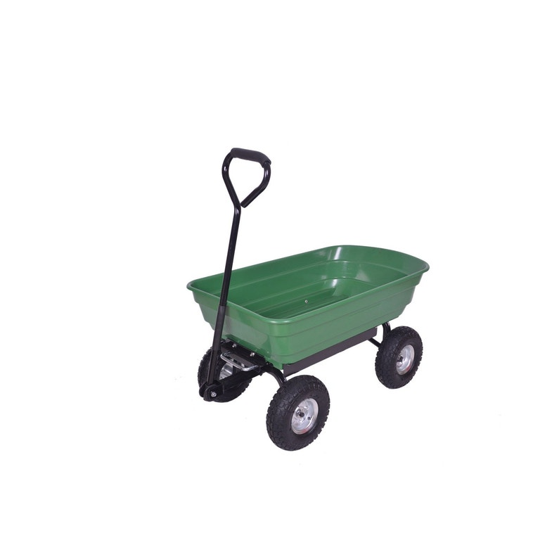 Chariot De Jardin Sur 4 Roues Gonflables Basculant Turfmaster 75 L 250 Kg