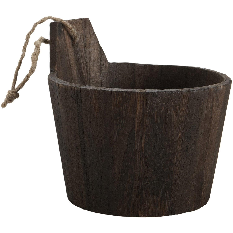 Panier en bois wengé