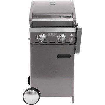 Barbecue au gaz NATERIAL Florida 2 brûleurs gris, gris