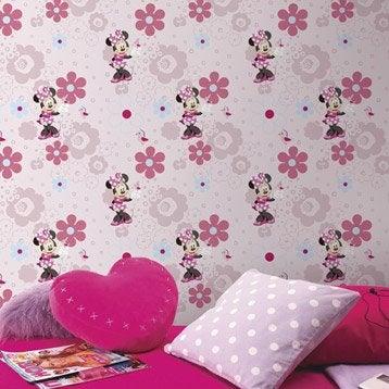 Papier peint papier Disney minnie rose