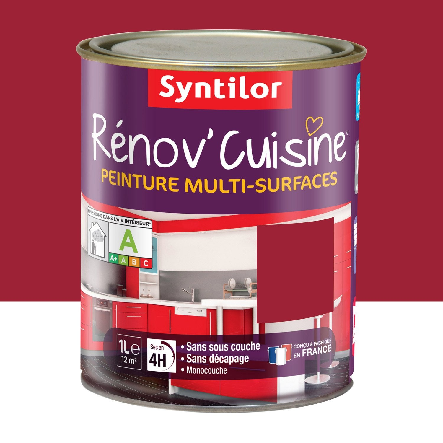 peinture r nov 39 cuisine syntilor rouge gaspacho 1 l leroy merlin. Black Bedroom Furniture Sets. Home Design Ideas