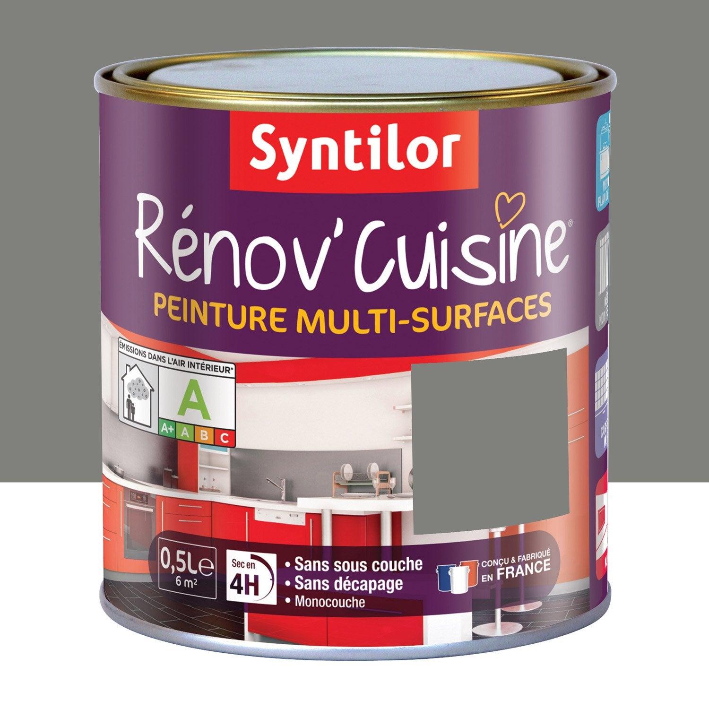 Peinture R Nov Cuisine Syntilor Poivre Gris 0 5 L Leroy Merlin