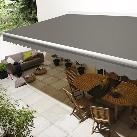 pose d 39 un store banne motoris de 3 5 m d 39 avanc e leroy merlin. Black Bedroom Furniture Sets. Home Design Ideas