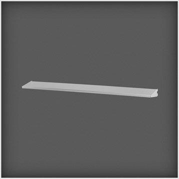 Etagère métal ELFA Platinium, L.90x H.5x P.11 cm