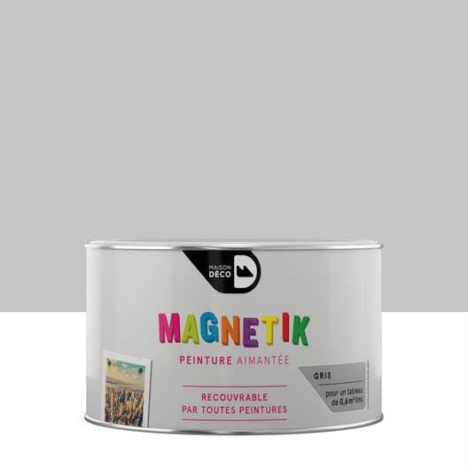 peinture magn tique gris satin maison deco magn tik c 39 est g nial 0 2 l leroy merlin. Black Bedroom Furniture Sets. Home Design Ideas