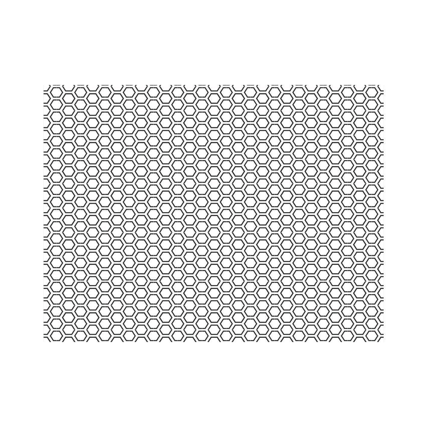 Crédence verre Hexago noire H.45 cm x L.60 cm