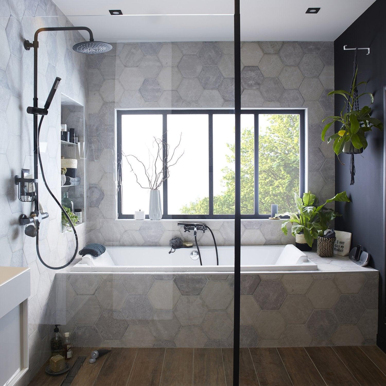 La nouvelle collection de salles de bains 2018 leroy merlin - Parquet salle de bain leroy merlin ...
