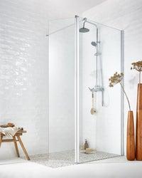 une douche l 39 italienne avec une paroi s rigraphi e leroy merlin. Black Bedroom Furniture Sets. Home Design Ideas