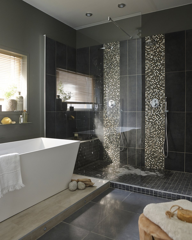 Une douche à l\'italienne ouverte sur la chambre | Leroy Merlin