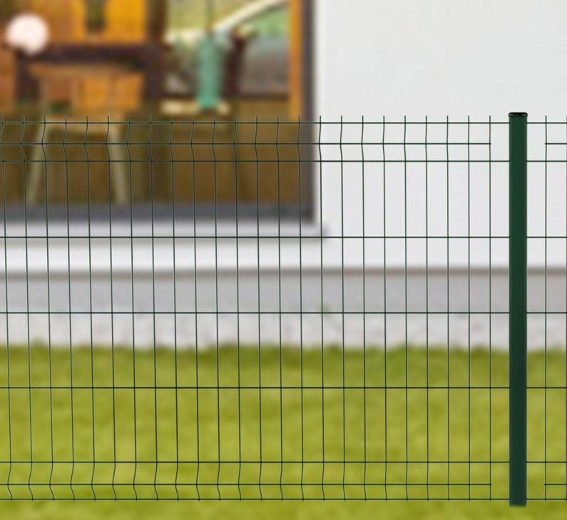 Kit Grillage Rigide 60 M Sur Platine Naterial Vert H1 M
