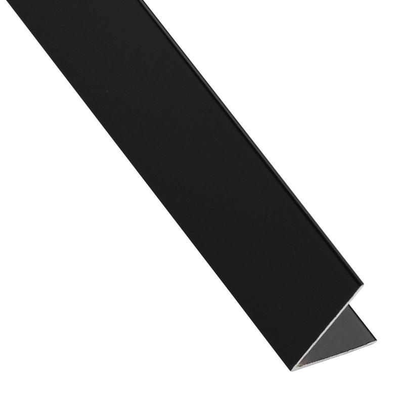 Cornière égale Aluminium Brossé Noir L1 M X L16 Cm X H16 Cm