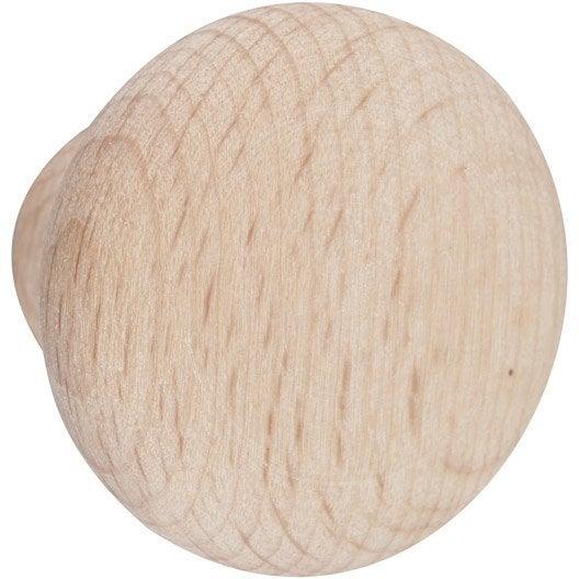 Lot de 6 boutons de meuble dune bois brut leroy merlin - Bouton en porcelaine pour meuble ...