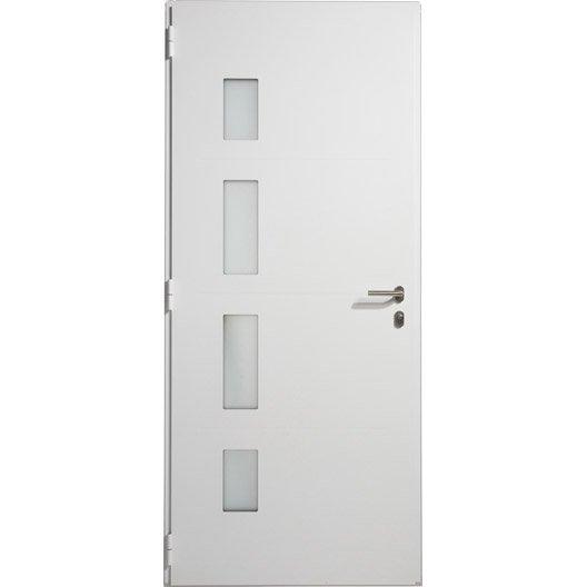 Porte d 39 entr e aluminium austin artens poussant droit h for Largeur porte d entree