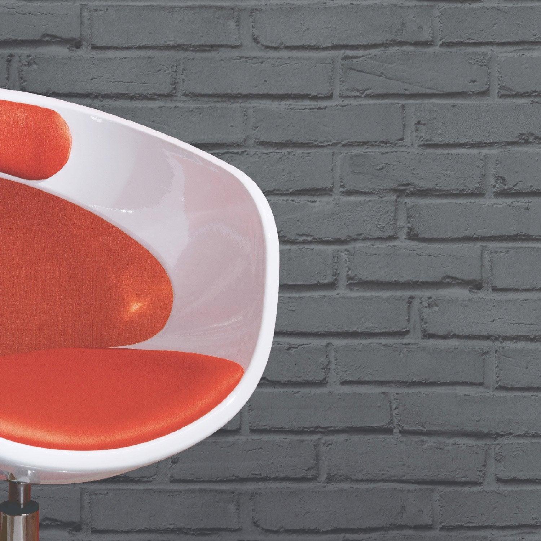 papier peint papier brique loft gris leroy merlin. Black Bedroom Furniture Sets. Home Design Ideas